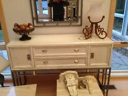 Used Quality Stanley White Italian Mirror 3 Marble Tables Lamp Wall Decor Lot