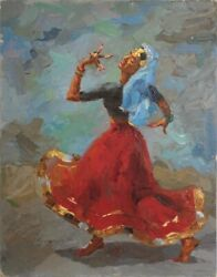 Ismail GulgeeDancing GirlOil On CanvasArtist's Gift to his American friend