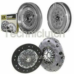 Nationwide 2 Part Clutch Kit And Luk Dmf For Vw Tiguan Suv 2.0 Tdi 4motion