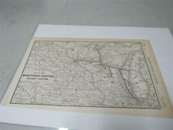 Original Map Of The Wisconsin Central Railway System 1904