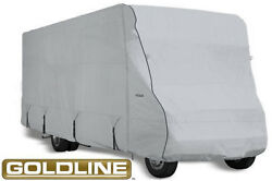 Goldline Rv Trailer Class C Cover Fits 22 To 24 Foot Grey