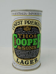 Beer Can Thos Cooper And Sons Finest Premium Lager 25oz Australia Straight Steel