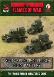 Battlefront FoW WWII Soviet 15mm SU-12 Self- Propelled Gun Battery Box SW