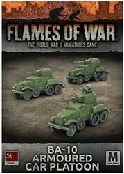 Battlefront FoW WWII Soviet 15mm BA-10 Armoured Car Platoon Box SW