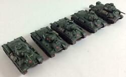 Battlefront FoW WWII Soviet 15mm Loose Mini T-34 Tanks #15 NM