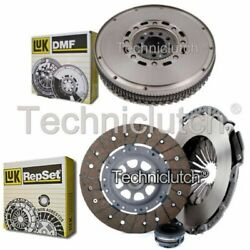 Luk 3 Part Clutch Kit And Luk Dmf For Audi 100 Berlina 2.8 E