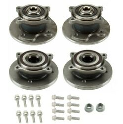For Mini R50 R52 Cooper Front And Rear Wheel Hub With Bearings And Bolt And Nuts Kit
