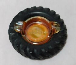 Rare Carnival Glass Goodyear Ashtray, Argentina, Tractor Tire, Most Wanted, Lqqk