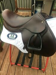 Schleese Jump Saddle, Size 17in. In Very Good Condition.