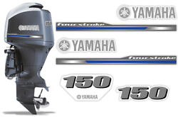 Yamaha 150hp Four 4 Stroke 2013+ Decal Kit Outboard Engine Graphics Sticker Usa