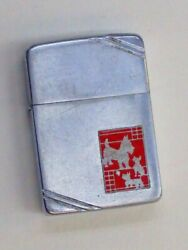 Zippo Metallico Terrier dog 1938 1939 Excellent used RA 104
