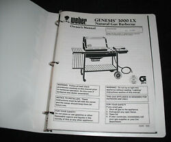 1995 Weber Genesis 3000 Lx Natural Gas Barbecue Grill Owner's Manual And Cookbook