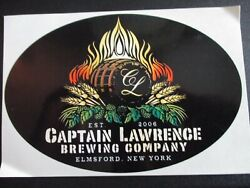 Captain Lawrence Brewing Hop Commander Oval Sticker Decal Craft Beer Brewery