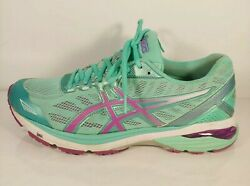 Asics Gt-1000 5 Womenand039s Sz 10 Us Teal Purple Running Athletic Shoes T6a8n