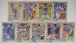 2018 Tb Rays 40 Card Lot W/ Topps Gypsy Queen Team Set 18 Opening Day Players