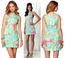 188 Lilly Pulitzer Lindy Pb Pink A Delicacy Beaded Neck Shift Dress