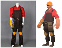 Team Fortress 2 Red Engineer Suit Uniform Cosplay Costume Custom Made And