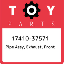 17410-37571 Toyota Pipe Assy Exhaust Front 1741037571 New Genuine Oem Part