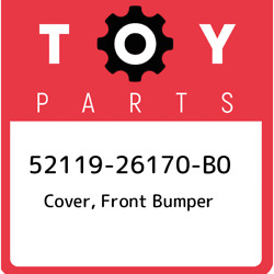 52119-26170-b0 Toyota Cover, Front Bumper 5211926170b0, New Genuine Oem Part
