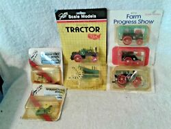 Lot Of 5 Scale Model Toy Tractor's 2 Signed By J. L. Ertl 1 By The Plant Mgr.