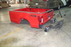 2017 Ford Super Duty F250 F350 8and039 Red Truck Box Electric Tailgate Back Up Camera
