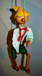 Pinocchio Traditional Wooden Marionette By Mark Aman