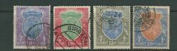 India 1911-23 Kgv Scott 95-98 5r 10r 15r And 25r Vf Used Nice Cancels