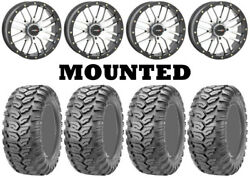 Kit 4 Maxxis Ceros Mu07 Tires 26x9-14/26x11-14 On System 3 St-3 Machined Ter