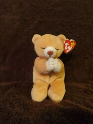 Ty Beanie Baby Hope Praying Bear With Tag Errors