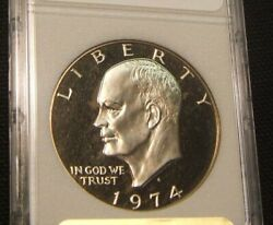 1974-s Eisenhower Proof Dollar Slabbed Ms-uncirculated Proof