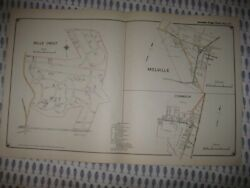 Antique 1917 East Northport Melville Commack New York Handcolored Map Superb Nr