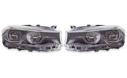 Set Left And Right Genuine Halogen Led Adaptive Ahl Headlights Lamps For Bmw F34