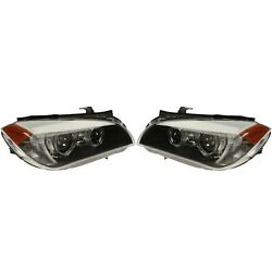 Pair Set of Front Left Right Xenon Headlights Lamps Assies Valeo For BMW E84 X1