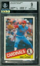 1985 Topps Mini 229 Dave Lapoint Bgs 9 Mac Solo Finest Graded 100 Cards Made