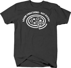 Learn Fractions Eat Pizza Caps Funny Math Food Delicious Love T Shirt For Men