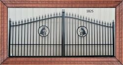 Inc Post Pkg Driveway Gate 1825 14and039 Ft Wd Iron Steel Garden Home Yard Security