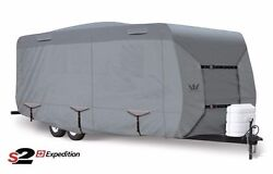 S2 Expedition Premium Travel Trailer Rv Cover - Fits 23and039 - 24and039 Length Gray