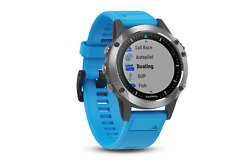 Garmin Quatix 5 Marine Multisport Smart Watch Stainless Steel w/ Blue Band