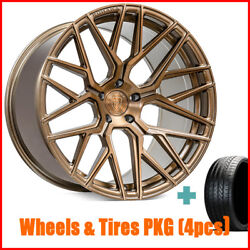 19 Staggered Rohana Rfx10 Brushed Bronze Wheels And Tires 4
