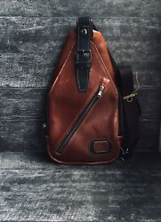 Cross body bag for men of genuine leather over the shoulder for documents $89.00