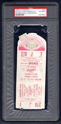 Psa 4/10/1962 Opening Day Reds Dodgers Full Ticket 1st Ever Game There Trb 143