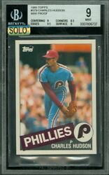 1985 Topps Mini 379 Charles Hudson Bgs 9 Mac Finest Solo Grade 100 Cards Made