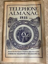 Vintage 1935 American Telephone And Telegraph Bell System Almanac