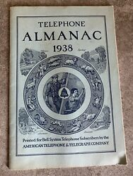 Vintage 1938 American Telephone And Telegraph Bell System Almanac