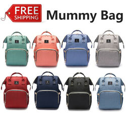 Mummy Backpack Diaper Bags Large Multifunctional Baby Nappy Changing Bag New $33.15