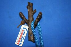 Rustic Cabin Mudroom Coat Hat Wall Hooks Cast Iron Tree Branch, 7 1/2, ,h-42