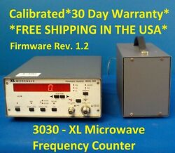 Xl Microwave 3030 10hz - 3ghz, Frequency Counter Firmware Rev. 1.2