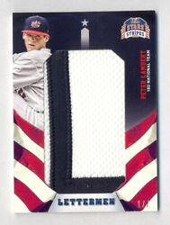 Peter Lambert 2015 Panini Stars And Stripes Lettermen Game Used Patch Rookie 1/7