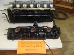 1972 Mercury Outboard 140hp 6cyl 1400 Crankcase Cylinders Block Engine Cases