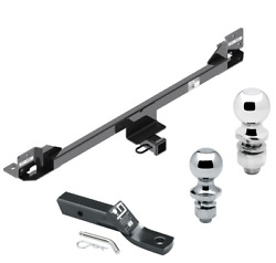 Trailer Tow Hitch For 11-17 Honda Odyssey Receiver W/ Drawbar And 1-7/8 And 2 Ball